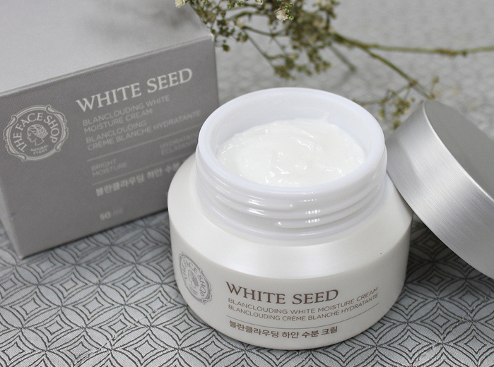 THEFACESHOP, White Seed Blanclouding White Moisture Cream Review 1